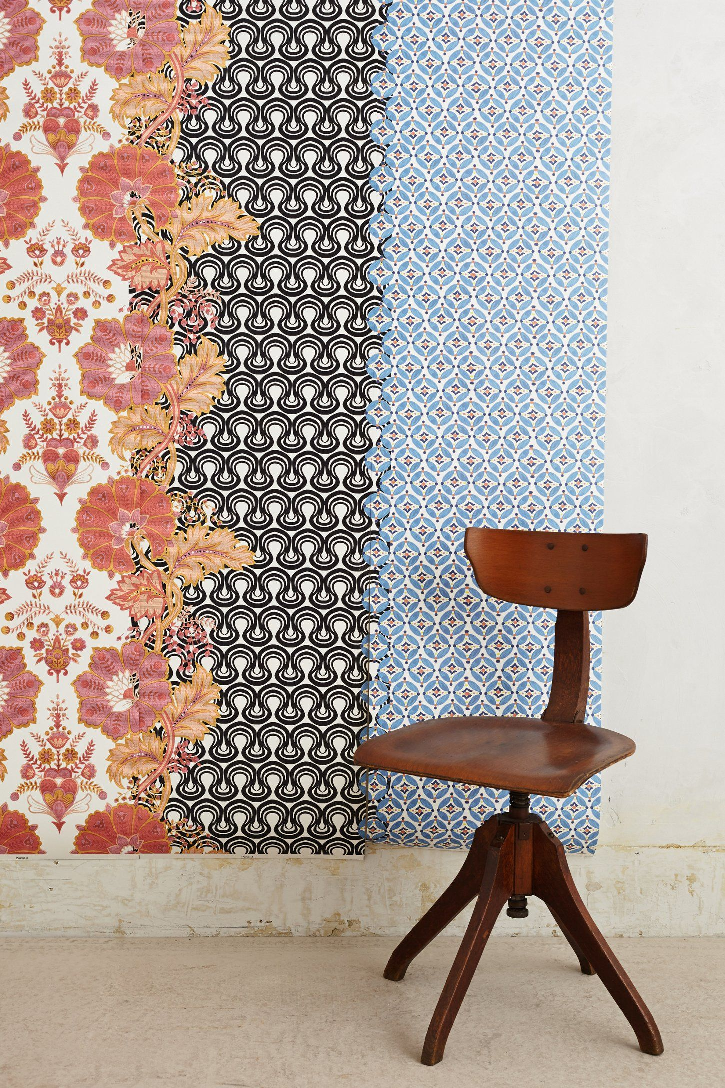 As a headboard? Textile Collage Mural
