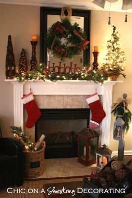 Let S Celebrate Decorate Your Mantel Or Chimney For Christmas Christmas Mantel Decorations Christmas Mantle Decor Holiday Mantel
