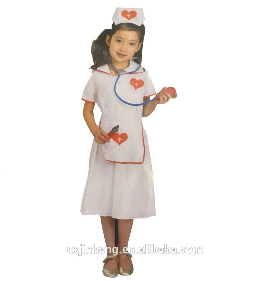 fd6a72f9a9655 Girl Nurse Fancy Dress Childrens Kids Costume Hospital Uniform ...