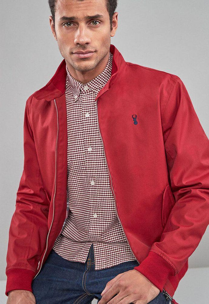 Мъжко Яке с лого Next Red leather jacket, Men's blazer