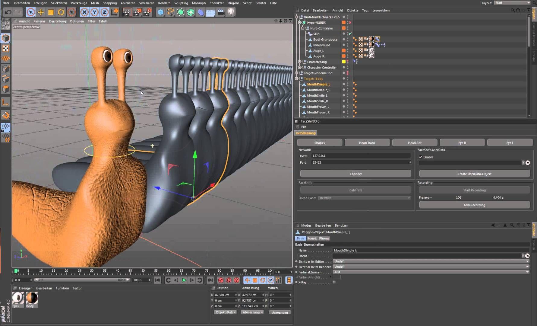 Faceshift and Cinema 4D plugin   05_C4D TUTS   Cinema 4d