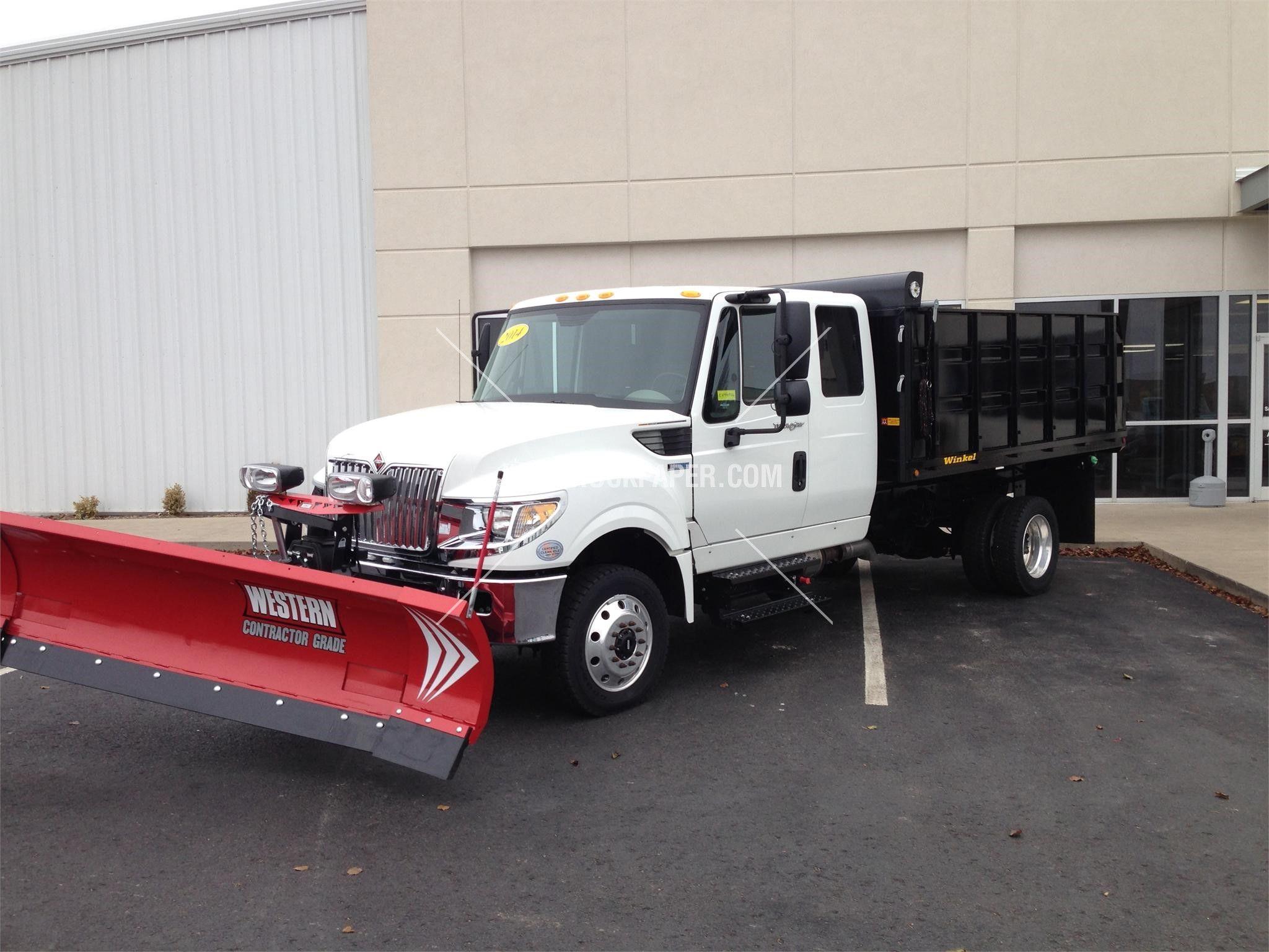 2014 INTERNATIONAL TERRASTAR 4x4 Medium Duty Trucks - Plow