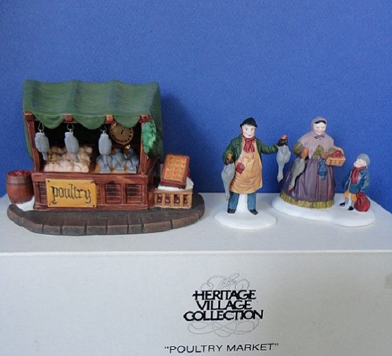 Dept 56 Poultry Market Retired Dickens by ShoppingJustForYou