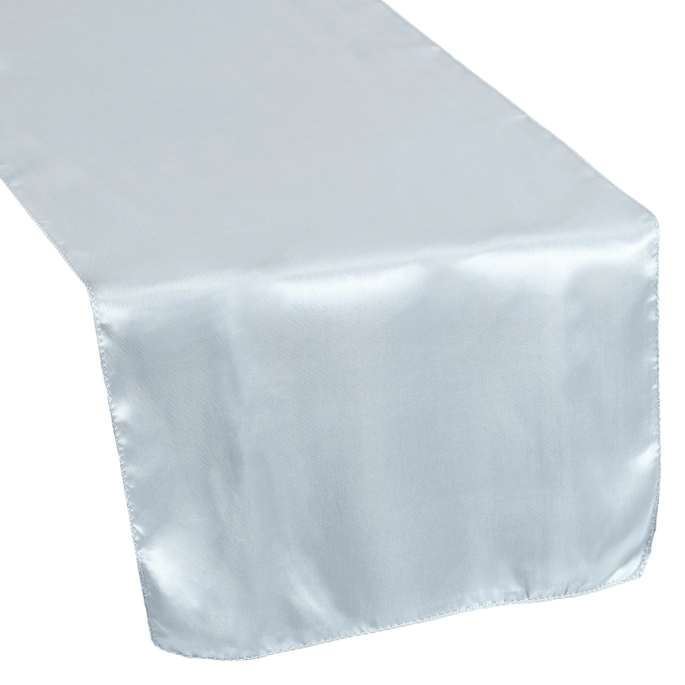 Satin Table Runner Dusty Blue in 2020 Blue table