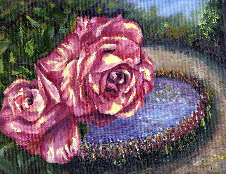 Rose Painting - Having A Greattime by Harsh Malik