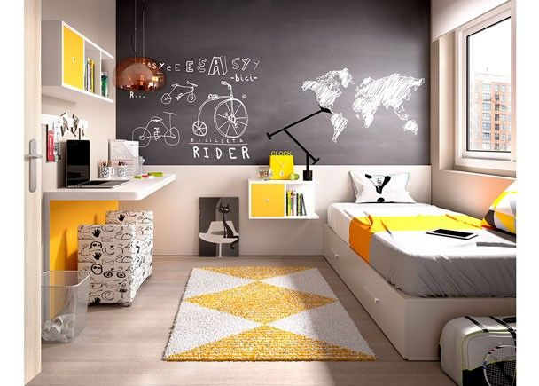 dormitorio juvenil 203 2052015 d tsk pokoj pinterest kinderzimmer einrichten und wohnen. Black Bedroom Furniture Sets. Home Design Ideas