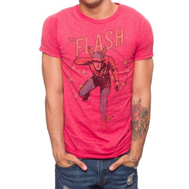 The flash retro t shirt superhero t shirt dc comics t for Retro superhero t shirts