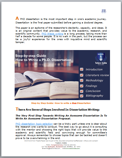 Step By Guide How To Write A Phd Dissertation Tutor On Education In India