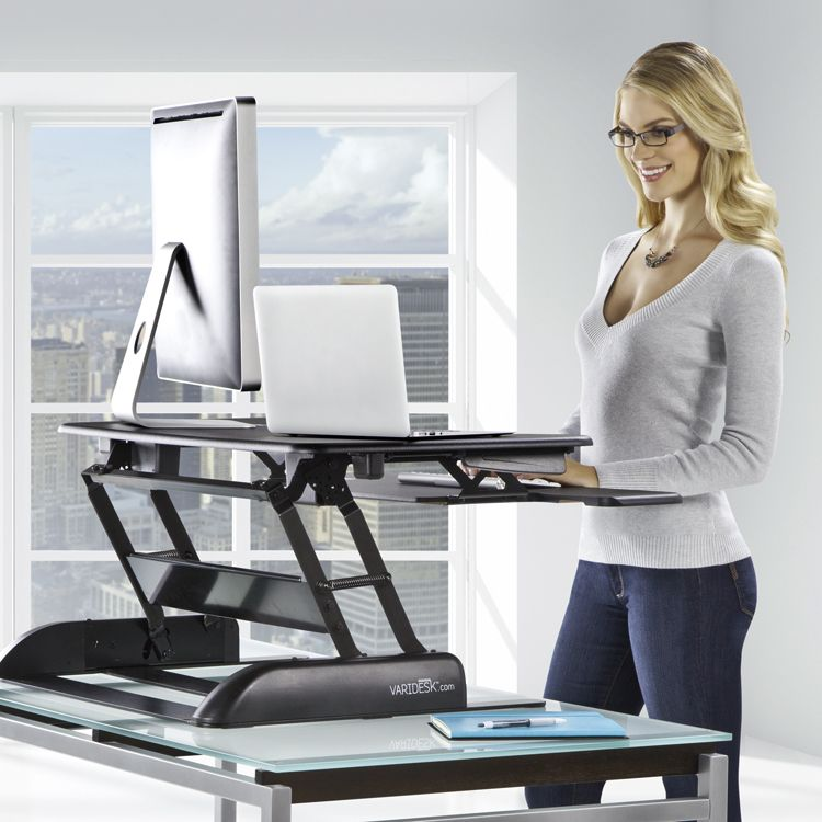 Varidesk Pro Plus Fits On Existing Desk And Is An