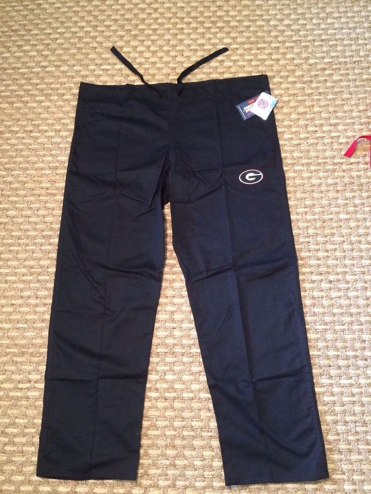 a6313b57b2a Georgia Bulldogs UGA Black Scrub Pant UNISEX Medium by GelScrubs #GelScrubs  #GeorgiaBulldogs #UGA #Dawgs #Scrubs