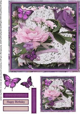 Cardtopper 7 Flowers inch 114 on Craftsuprint - View Now!