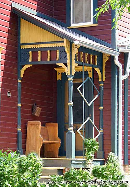 Exterior House Trim On Small Victorian Porch