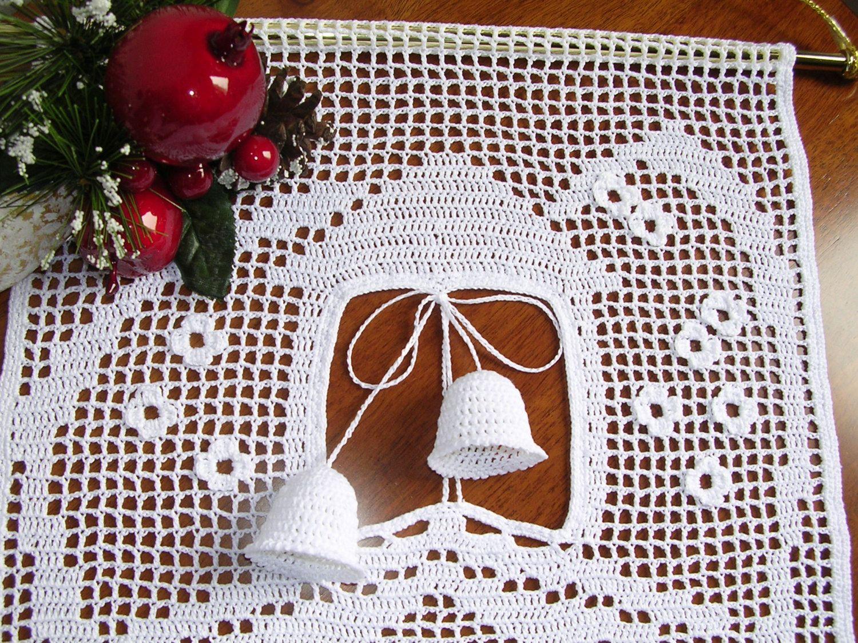 Tenda decorativa ad uncinetto, pizzo ad uncinetto, crochet curtain tenda ad uncinetto a mano cotone bianco, casa, decorazione, regalo di MondoTSK su Etsy