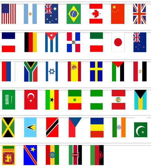 graphic regarding Printable Country Flags titled Earth Nation Fabric Flag Bunting - printable present strategies