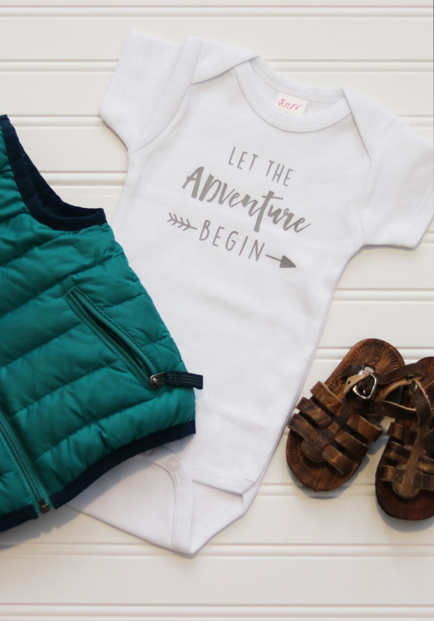 Let the adventure begin Perfect baby onesie to use as a pregnancy