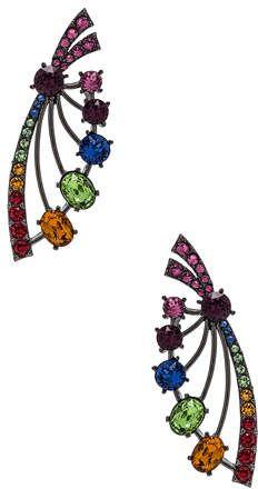 7ed3d5e9e Oscar de la Renta Crystal Fan Earrings | Products | Oscar de la ...
