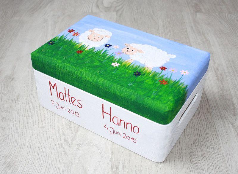 Kisten & Boxen - Spitzbub Erinnerungsbox Erinnerungskiste - Schafe - ein Designerstück von Spitzbub bei DaWanda