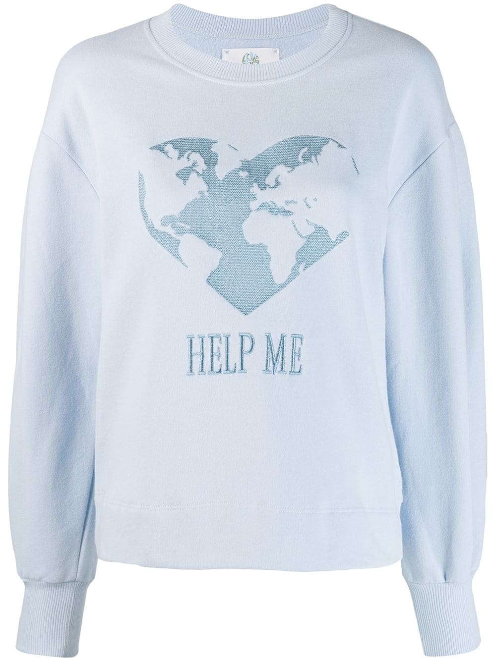 Alberta Ferretti Alberta Ferretti Help Me Sweatshirt Blue Albertaferretti Cloth Sweatshirts Alberta Ferretti Philosophy Di Alberta Ferretti