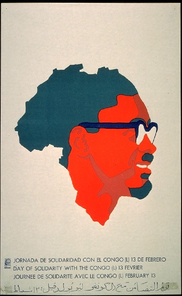 OSPAAAL Original Political Poster Week of Solidarity wth Africa Raised Fist 1968