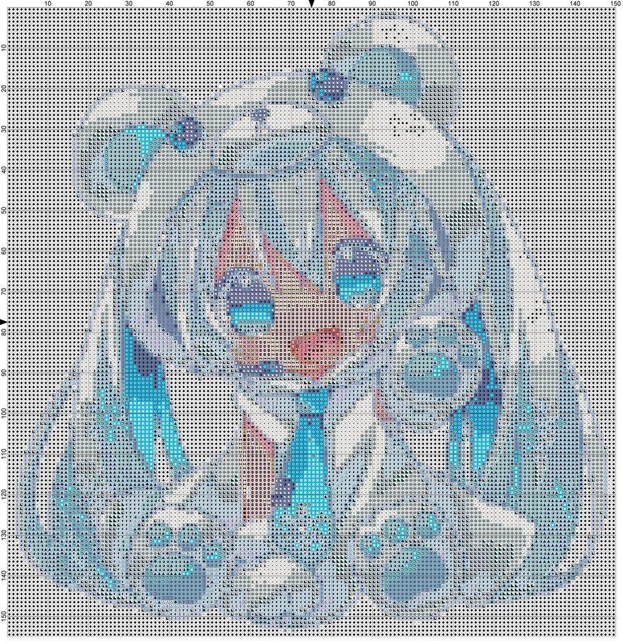Hatsune Miku Cross Stitch Kit