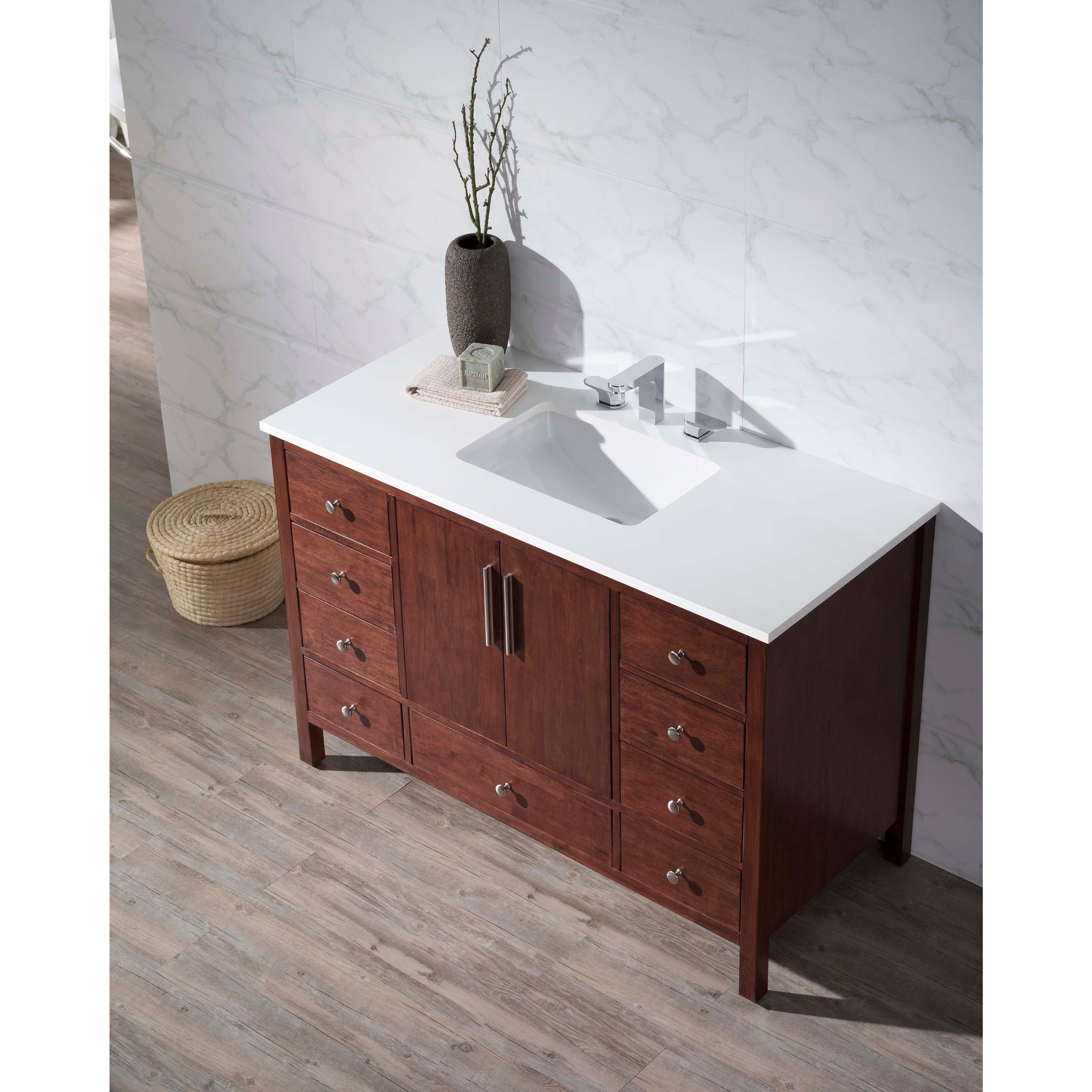Stufurhome Rockford 49 Inch Single Sink Bathroom Vanity By