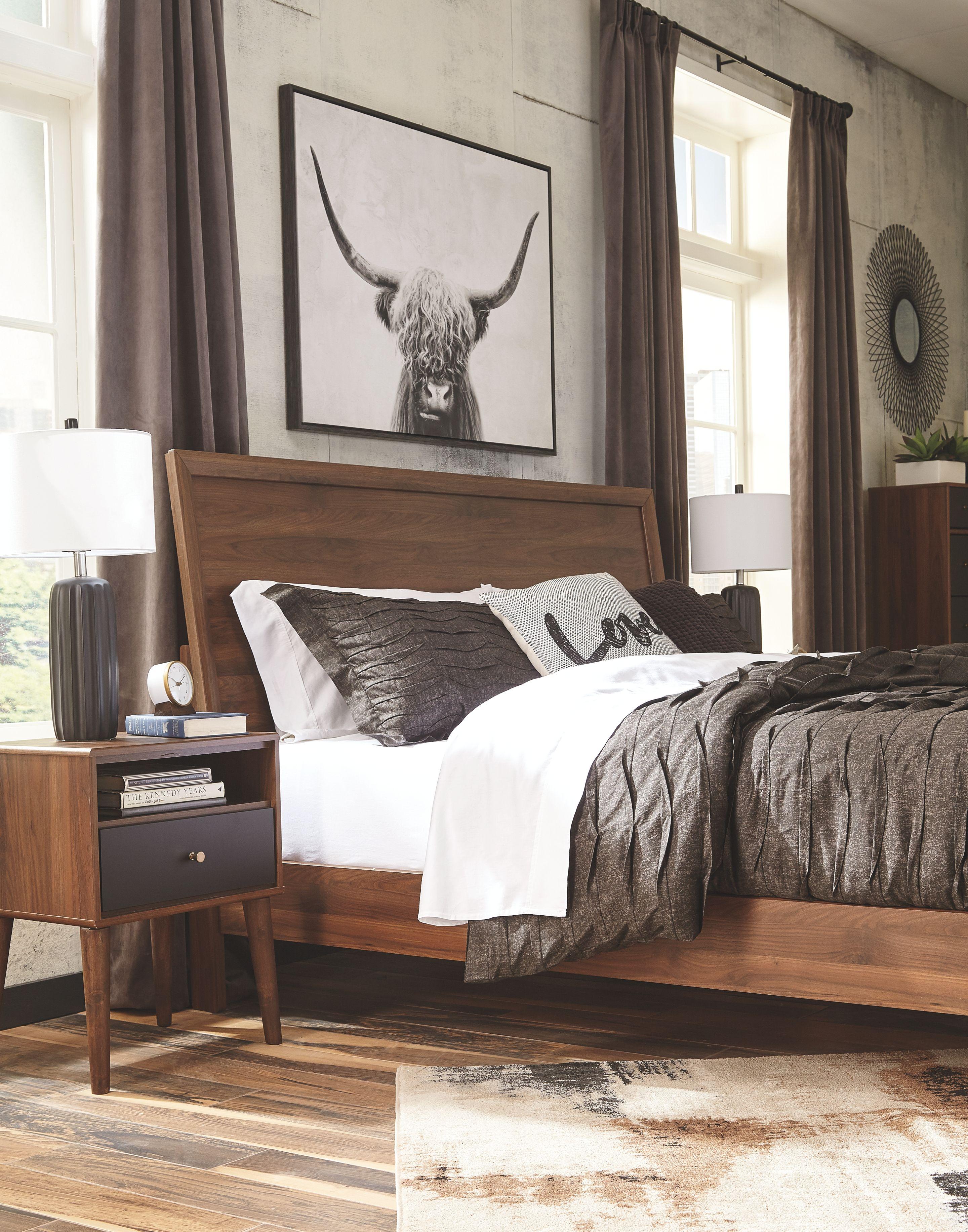 Daneston Nightstand, Brown/Graphite Furniture, Bedroom
