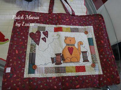 Patch Mania: Bolsa para carregar material básico de patchwork