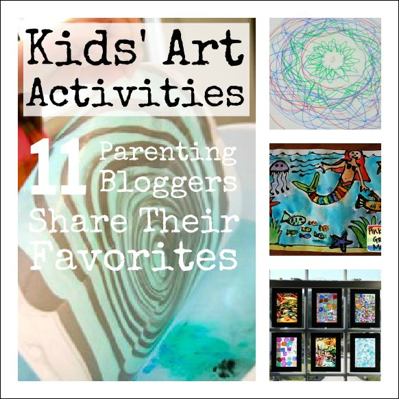 A round-up of the favorite Kids' Art Activities of 11 parenting bloggers