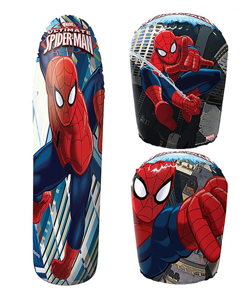 Another great find on #zulily! Ultimate Spider-Man Bop Bag & Glove Set by  #zulilyfinds