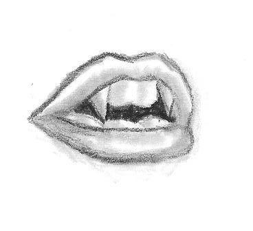 Presas do vampiro tome eu amo o esboço eo estilo deste desenho