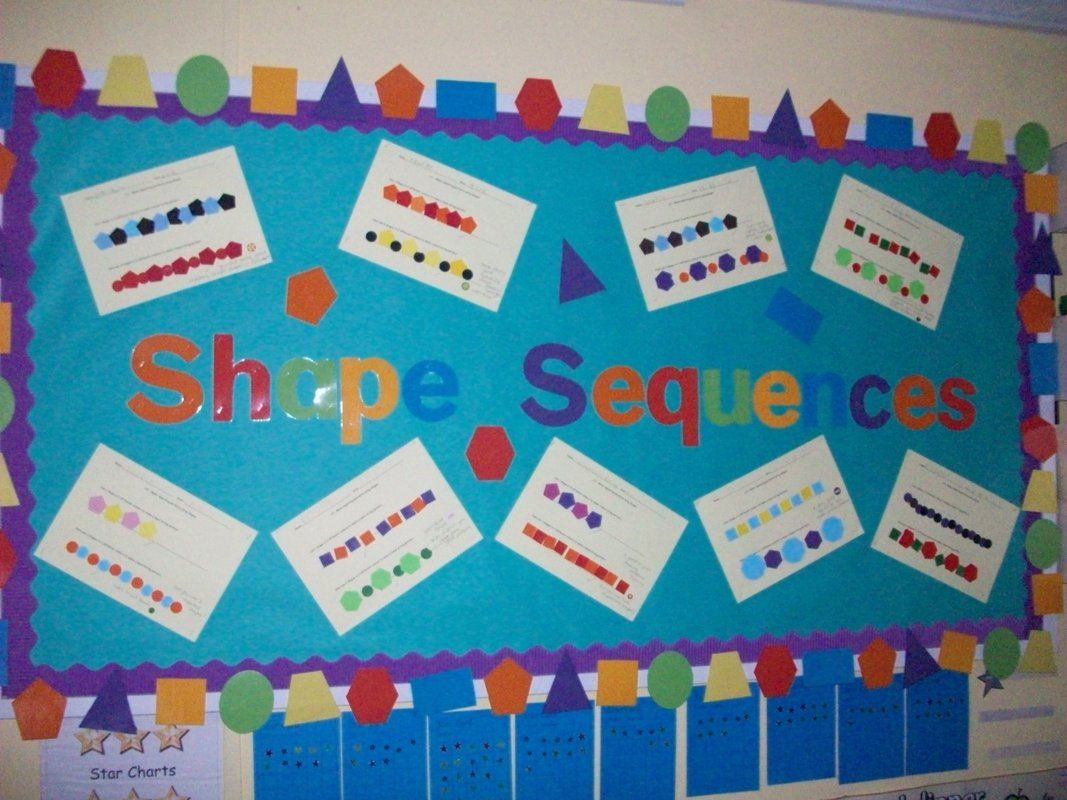 Shape Sequence Display, classroom display, class display, numeracy ...