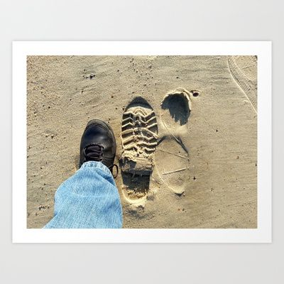 Beach of Big Feet Art Print by Lon Casler Bixby - $16.00 - Fine Art Prints, greeting cards, t-shirts, cell phone cases, & more.