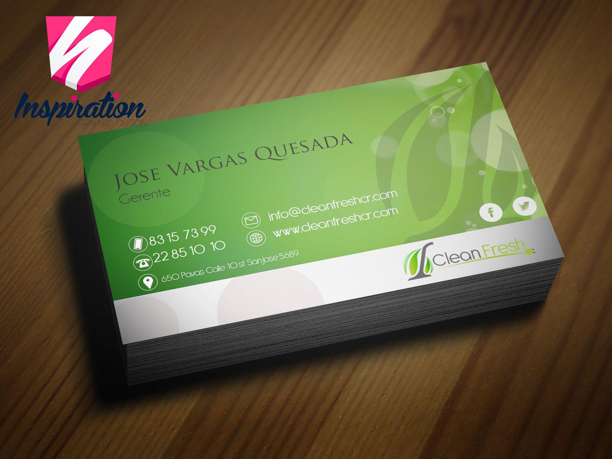 diseño e impresión para empresa de limpieza de muebles tarjetas