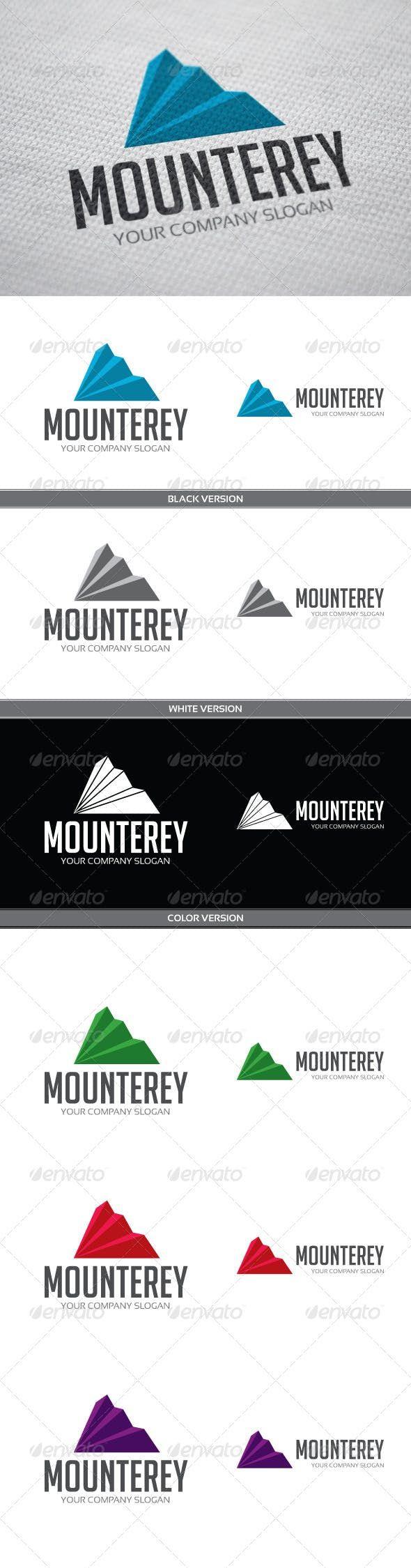 Mounterey — Vector EPS purple increase Logo design