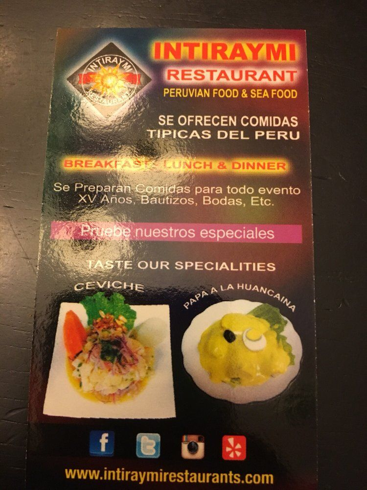Photo Of Intiraymi Restaurant Peruvian Food Los Angeles Ca United States Business Card Lunch Restaurants Peruvian Recipes Los Angeles Food