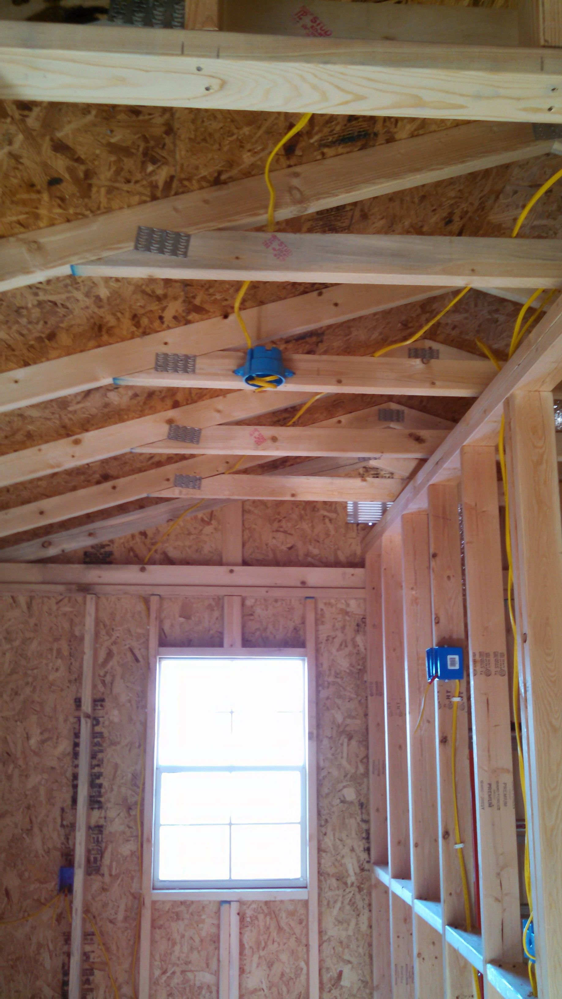 Bedroom framing and rough in electrical done. | Tiny home ...