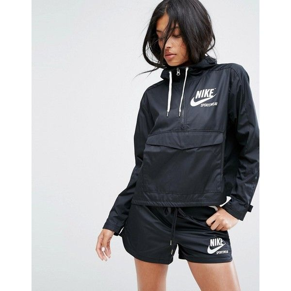869c9f38c8 Nike Archive Pro Woven Jacket In Black ( 88) ❤ liked on Polyvore featuring  outerwear