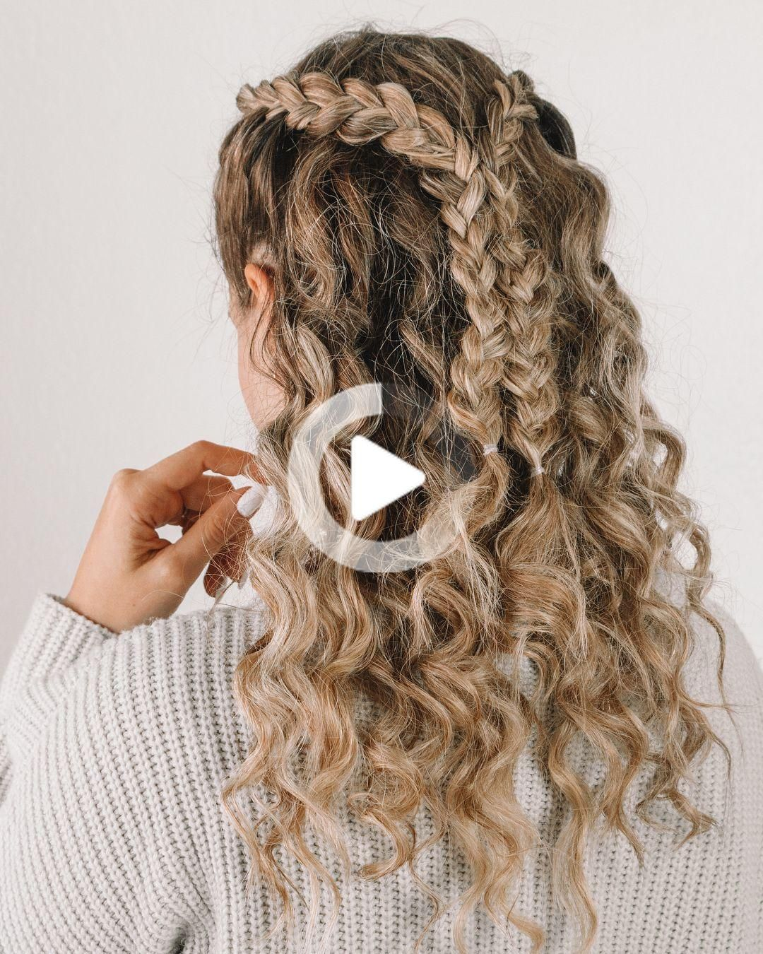 Pin On Easy Hairstyles For Curly Hair