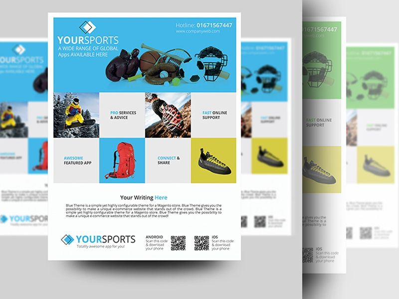 sports product promotion flyer promotion and brochures