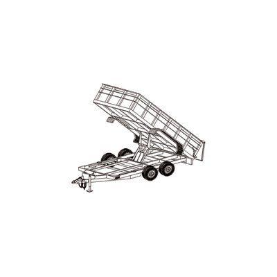 Hydraulic Dump Tandem Axle Trailer Blueprints, Model# 14HD