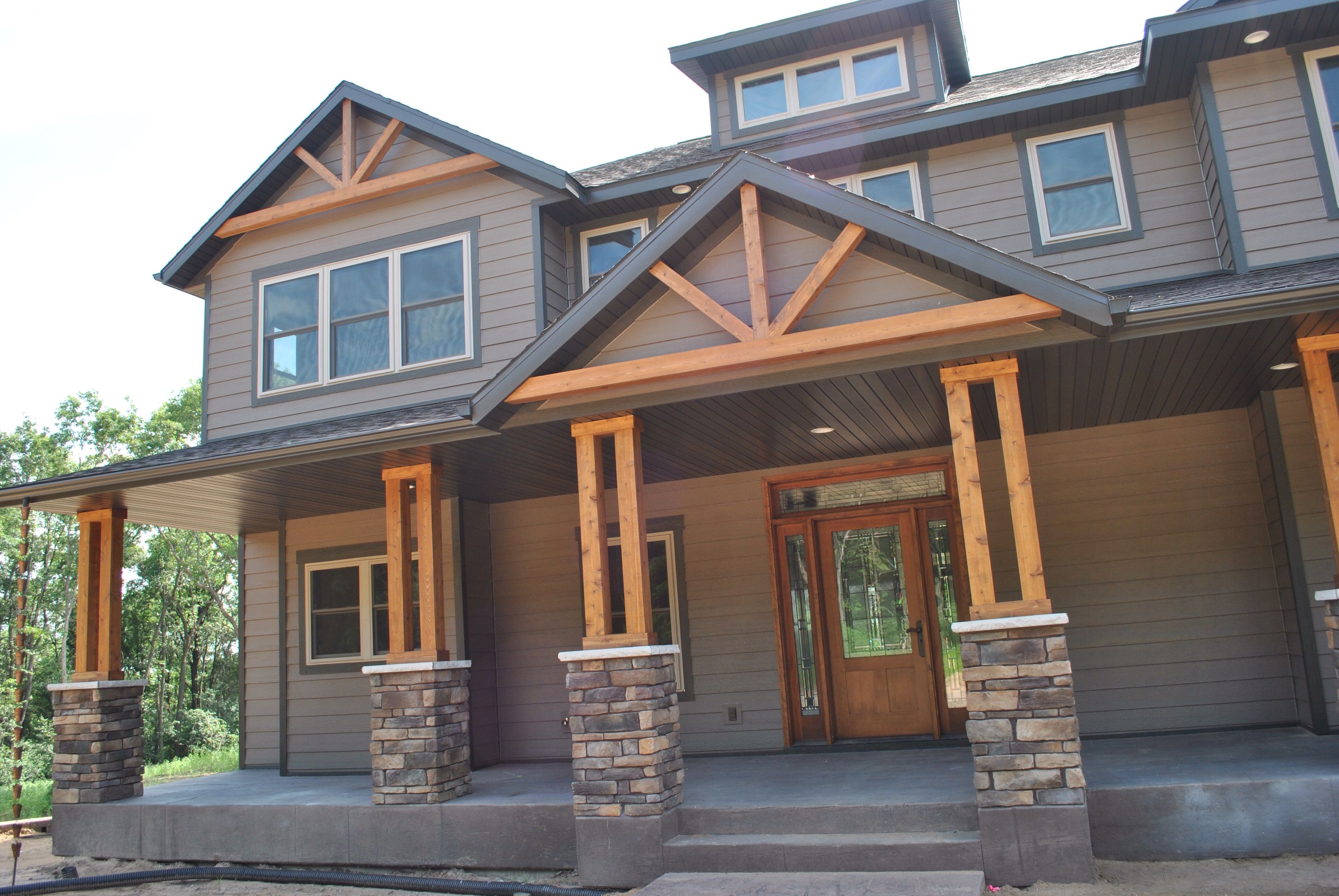 Add A Rustic Touch To Your Home With Wooden Gable Accents