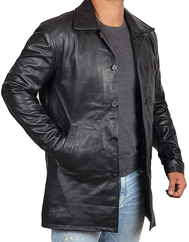 Amazon Com Decrum Mens Black Leather Coats Mens Leather Coat 1500041 Super Black Xs Clothin Leather Jacket Mens Leather Coats Brown Leather Jacket Men [ 1500 x 1172 Pixel ]