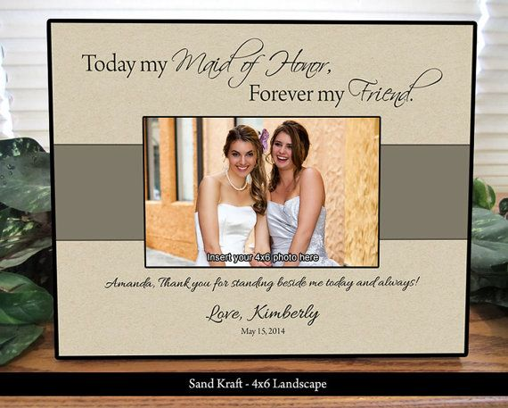 Maid Of Honor Frame Bridesmaid Frame Personalized Gifts Custom