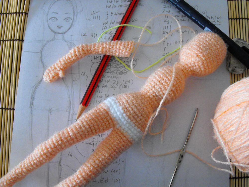 crochet doll | Corp de poupée | Pinterest | Muñecas, Cuerpo y Ganchillo
