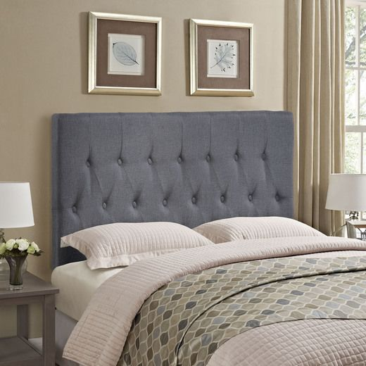 Modway Clique Queen Headboard in Smoke | The Great Modway ...