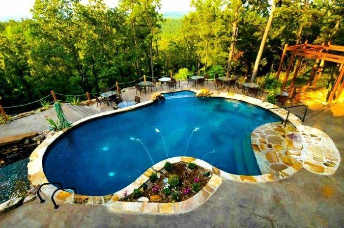 160 Tolle Bilder Von Luxus Pool Im Garten Backyard Pool Designs Swimming Pools Small Pool Design
