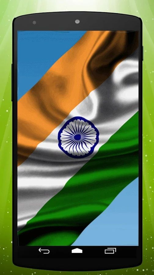 Get this awesome live wallpaper and enjoy the beautiful Indian flag