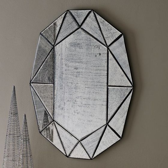 Gem Mirror Design Crush Contemporary Wall
