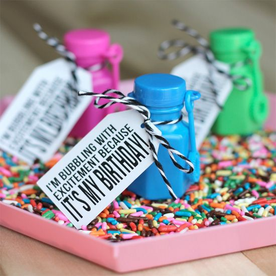 Make Cute Birthday Party Favors Or Classroom Gifts With Free Printable Tags.