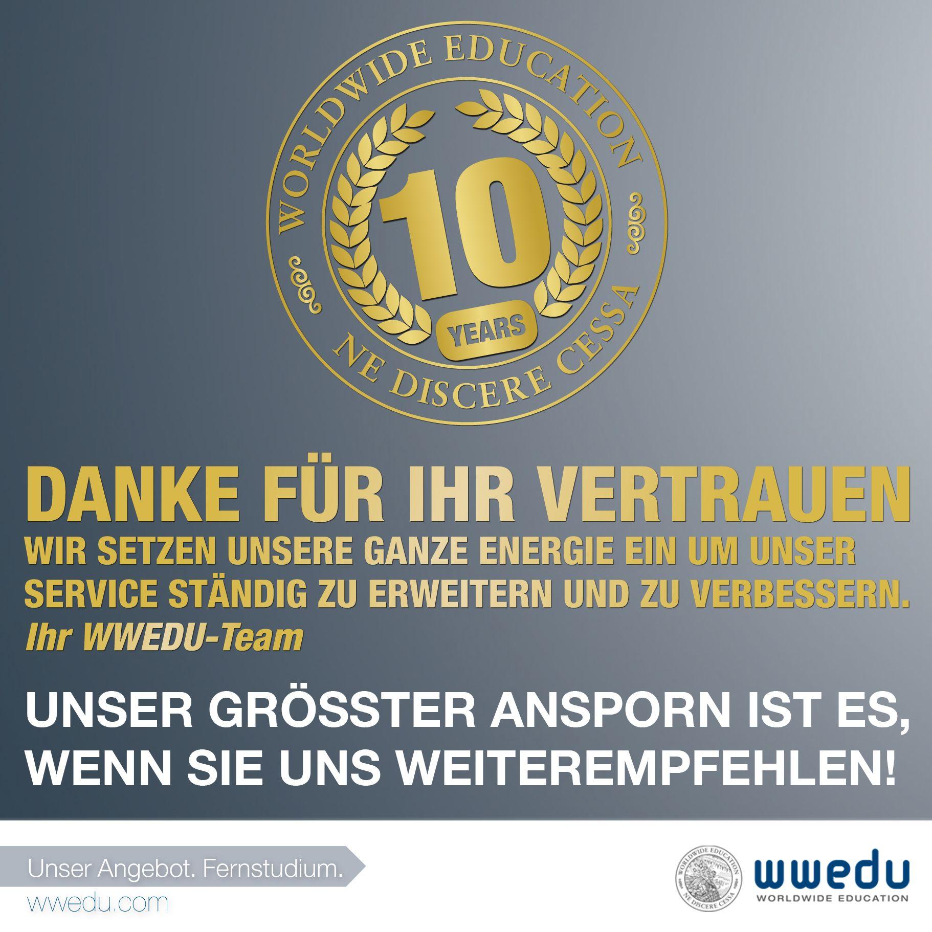 Wir sagen #Danke! | http://wwedu.com